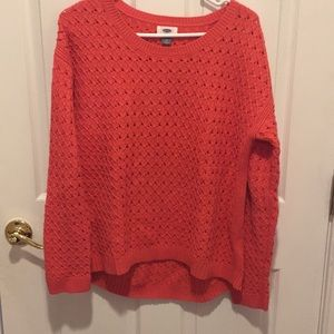 OLD NAVY Coral eyelet sweater